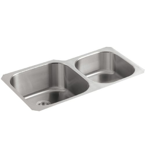 Kohler Icerock Stainless Steel Bowl and Three Quarter Kitchen Sink - 3356-NA